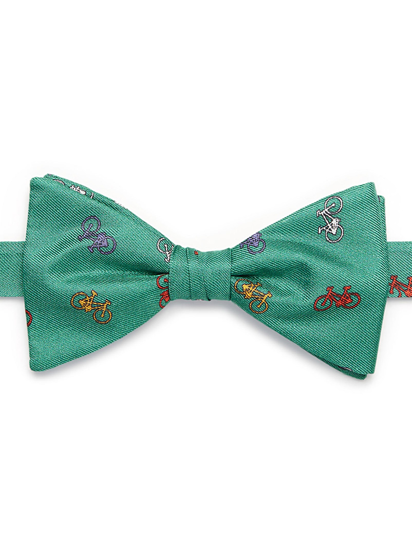 Colourful bicycle bow tie - Bow Ties - Bottle Green