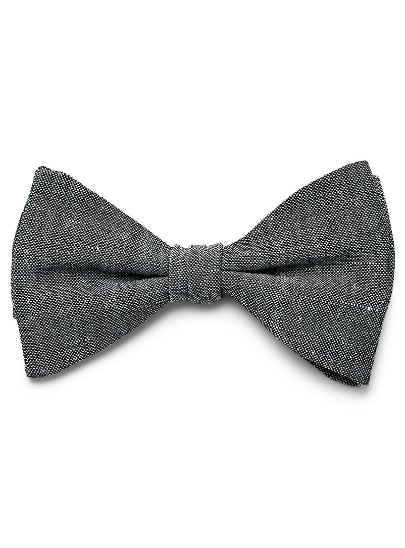 Le 31 Blue Dark chambray bow tie for men