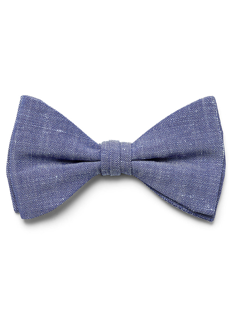 Le 31 Slate Blue Dark chambray bow tie for men