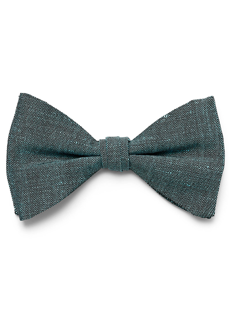 Le 31 Teal Dark chambray bow tie for men