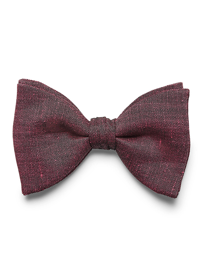 Dark chambray bow tie - Bow Ties - Cherry Red