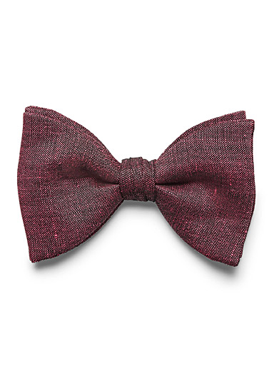 Dark chambray bow tie