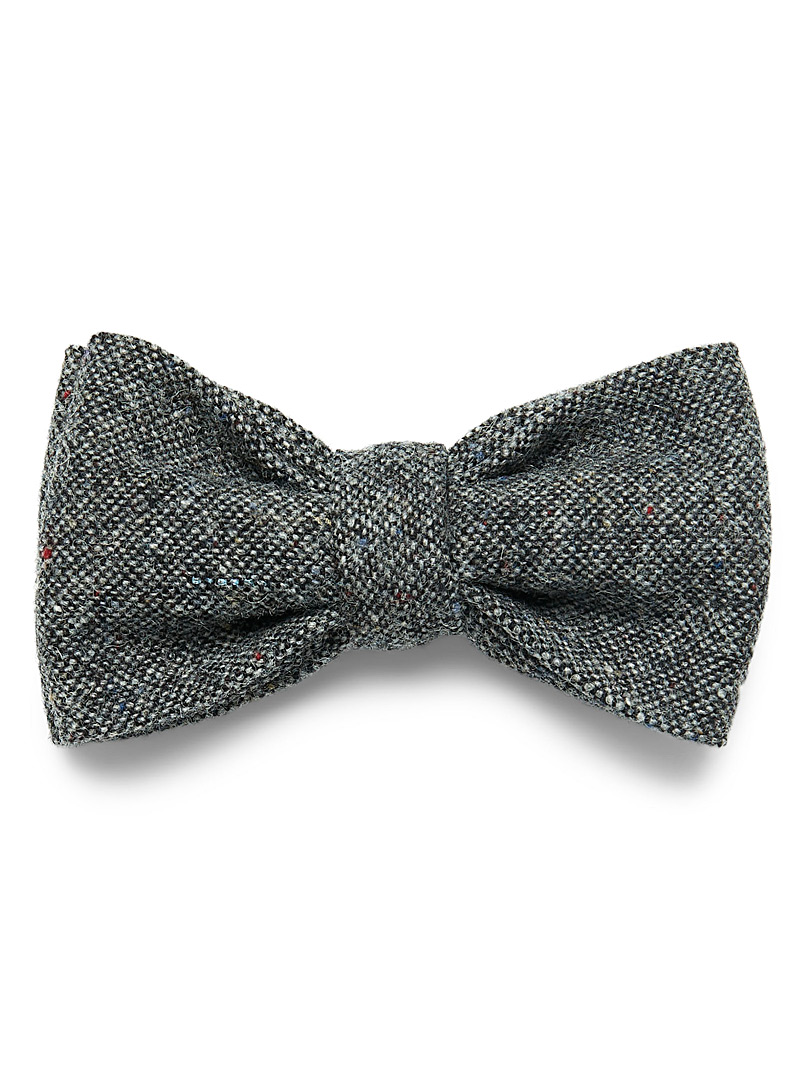 Confetti tweed bow tie - Bow Ties - Black