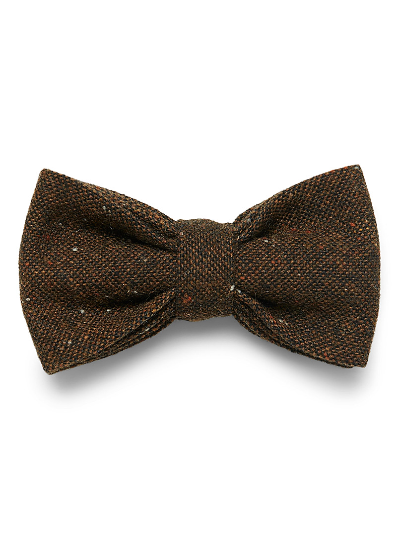 Le 31 Black Confetti tweed bow tie for men