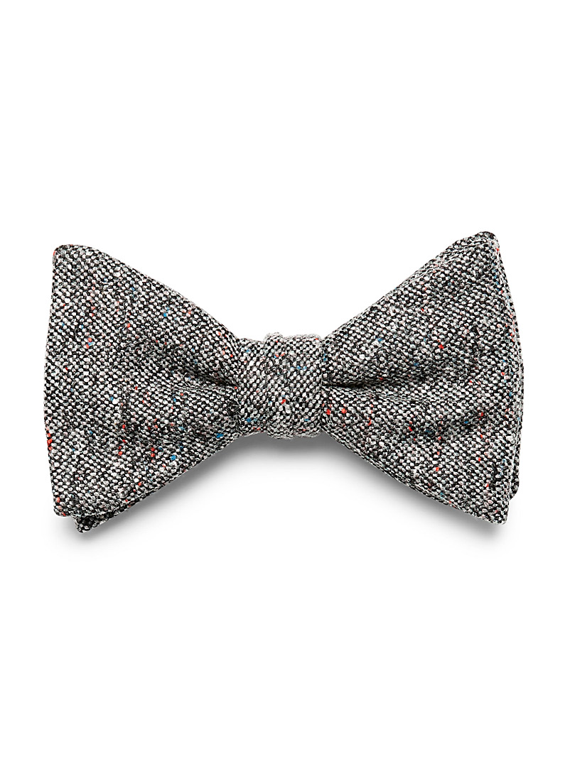 Le 31 Mossy Green Confetti tweed bow tie for men
