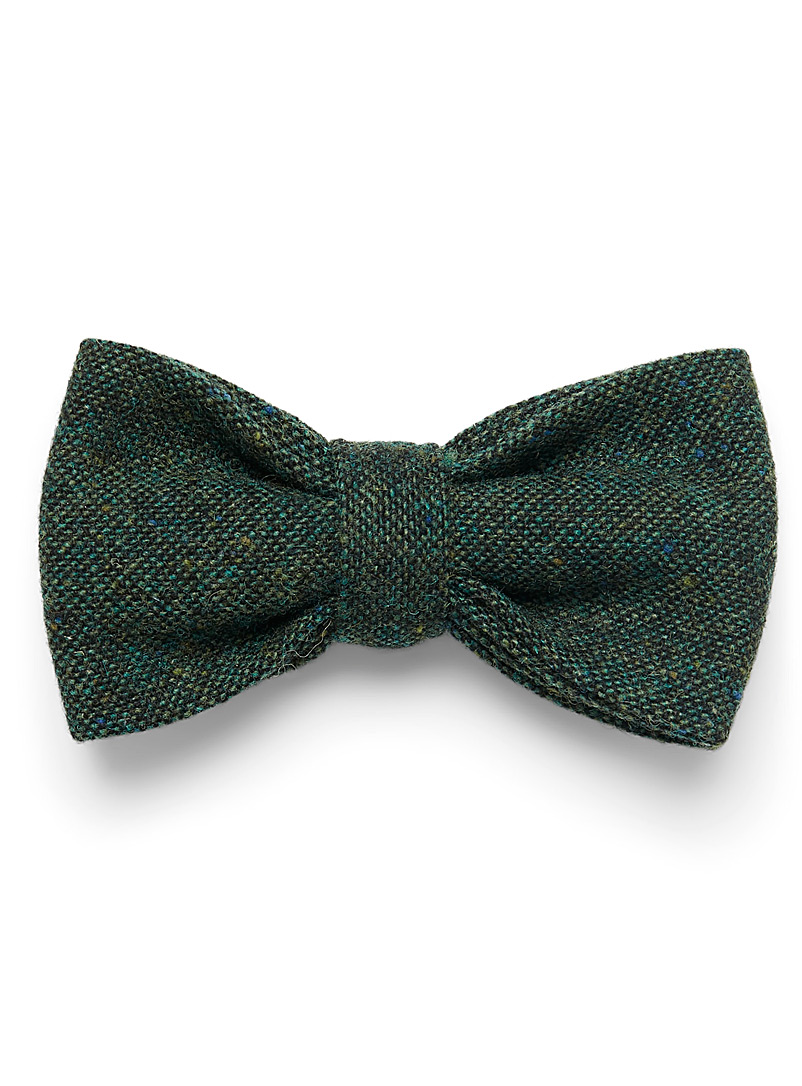 Confetti tweed bow tie - Bow Ties - Mossy Green