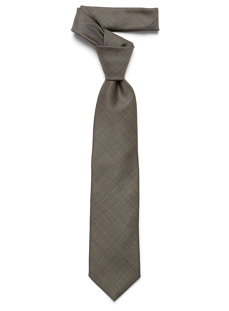 Le 31 Brown Dark-weft solid tie for men
