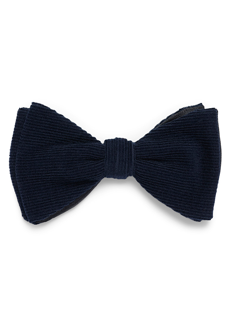 Le 31 Marine Blue Corduroy bow tie for men