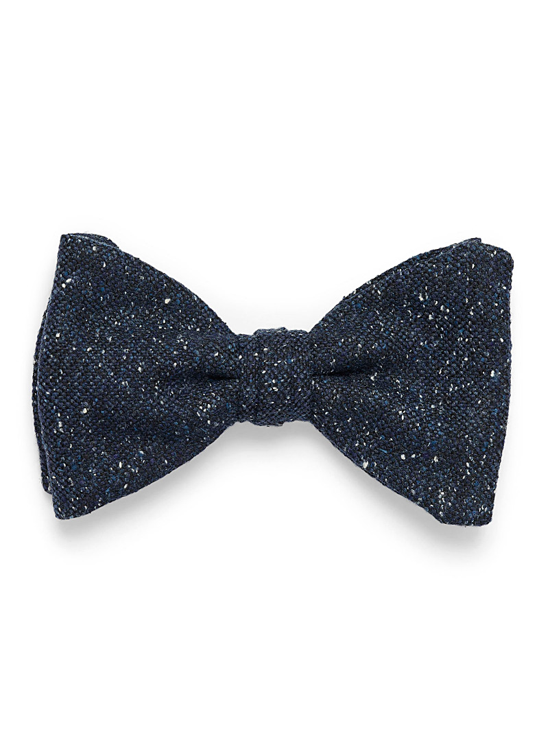 Flecked knit bow tie