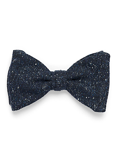 Le 31 Marine Blue Flecked knit bow tie for men