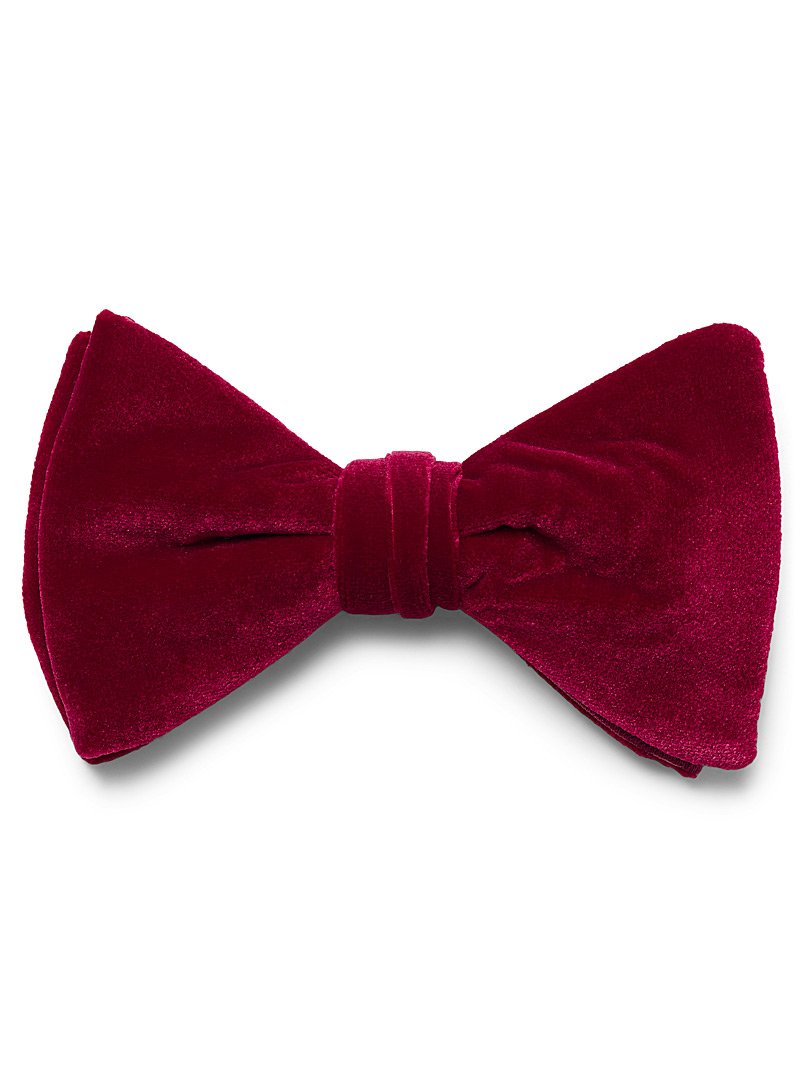 Coloured velvet bow tie - Bow Ties - Ruby Red