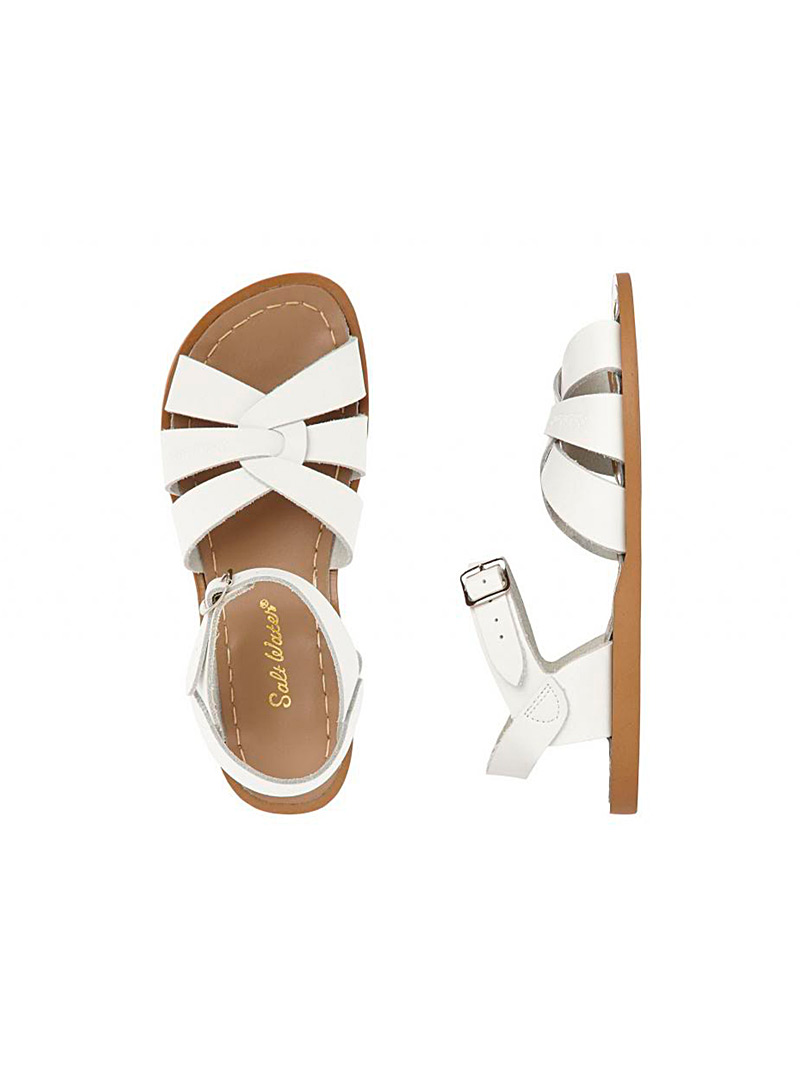 Salt Water White Waterproof leather Original sandals for women