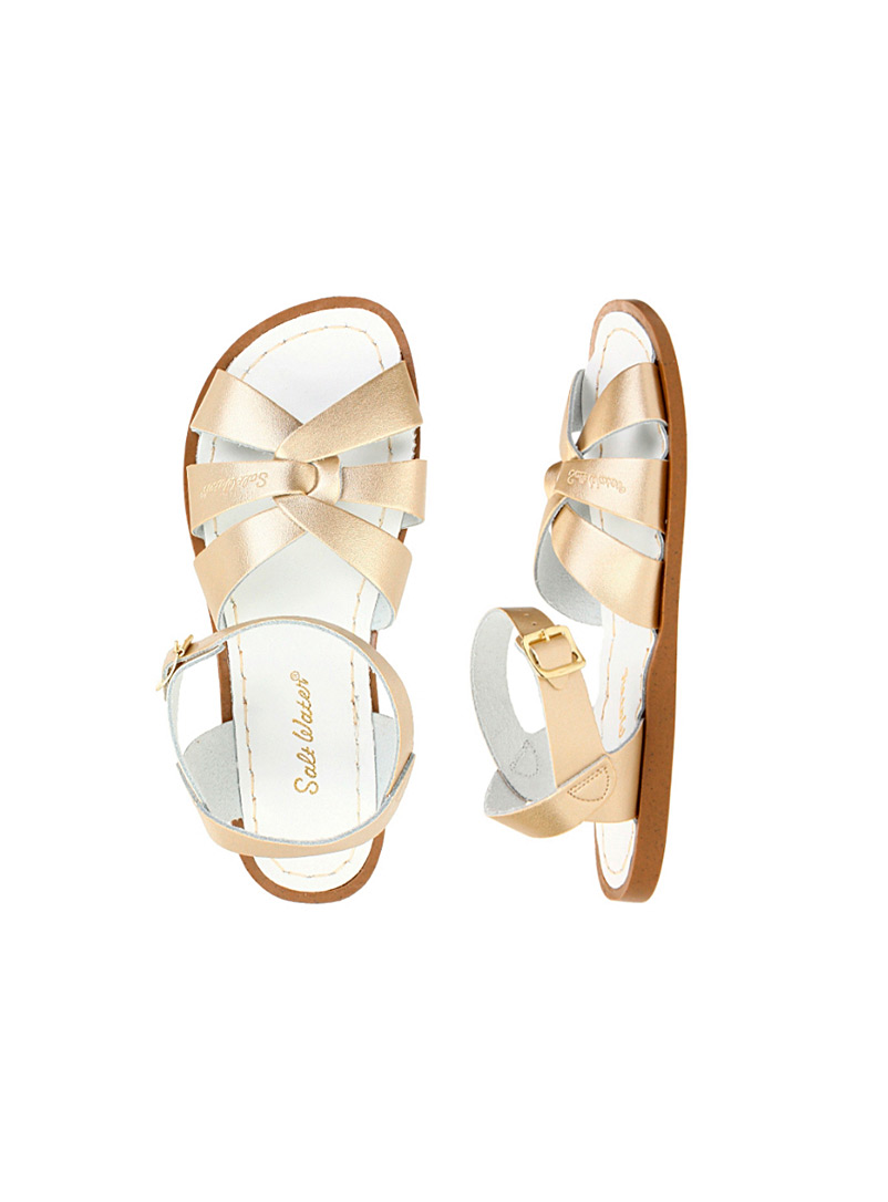 Salt Water Pearly Waterproof leather Original sandals for women