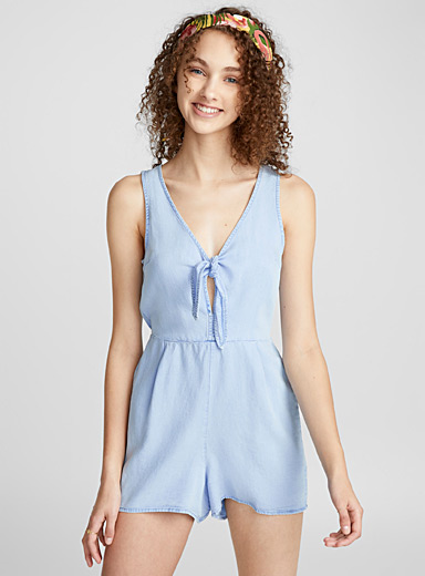 Knotted lyocell romper