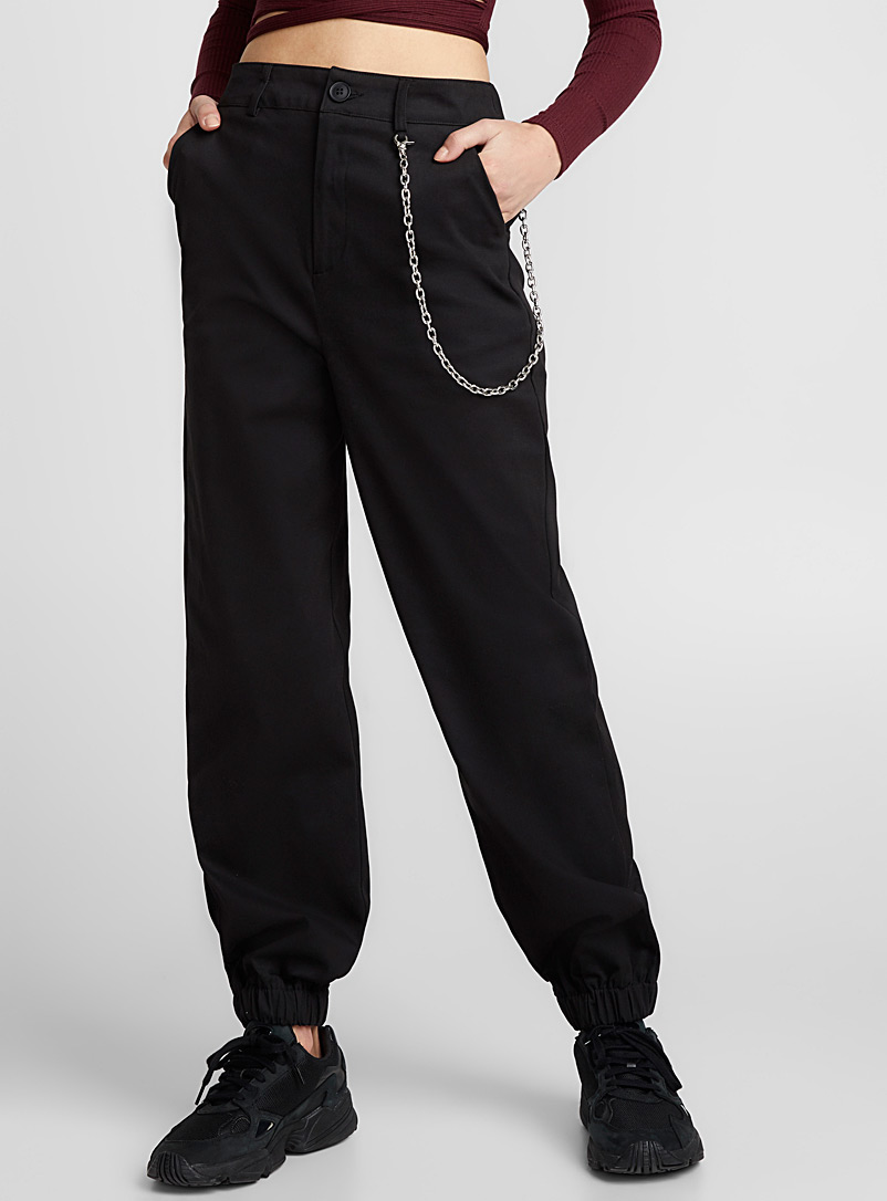 Metallic chain joggers - Joggers - Black