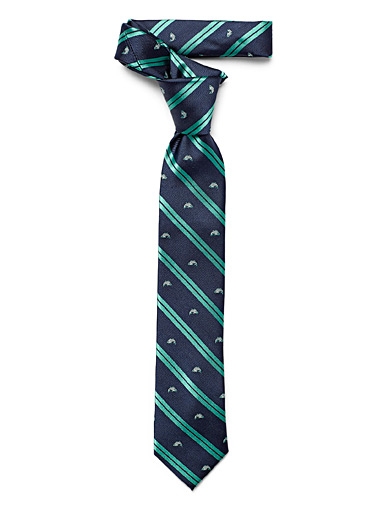 Fish and stripes tie
