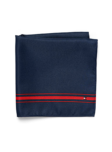 Accent stripe pocket square