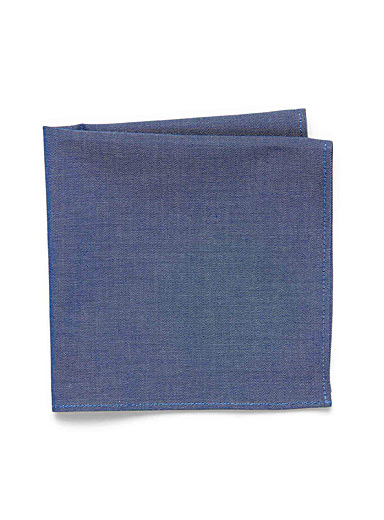 Denim-like chambray pocket square