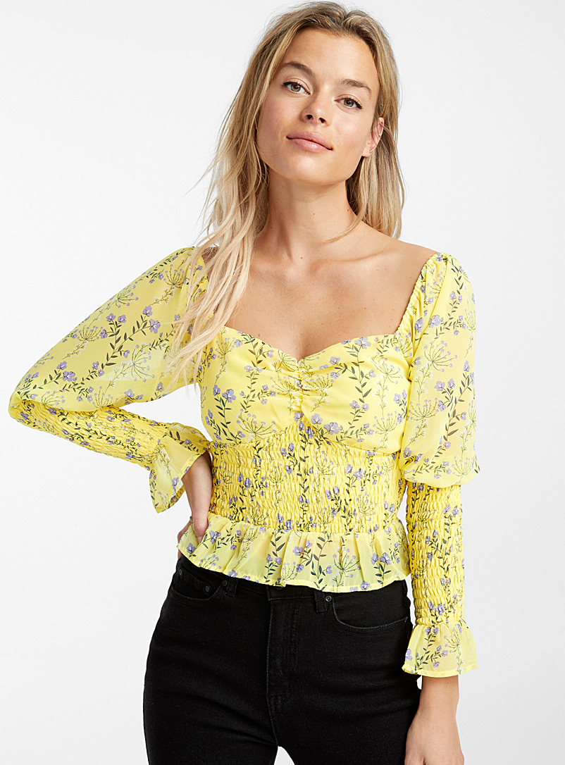 Honeycomb sun blouse - Blouses - Bright Yellow