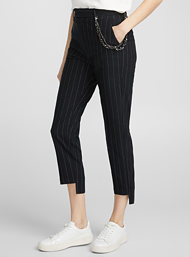 Thin stripe and chain pant