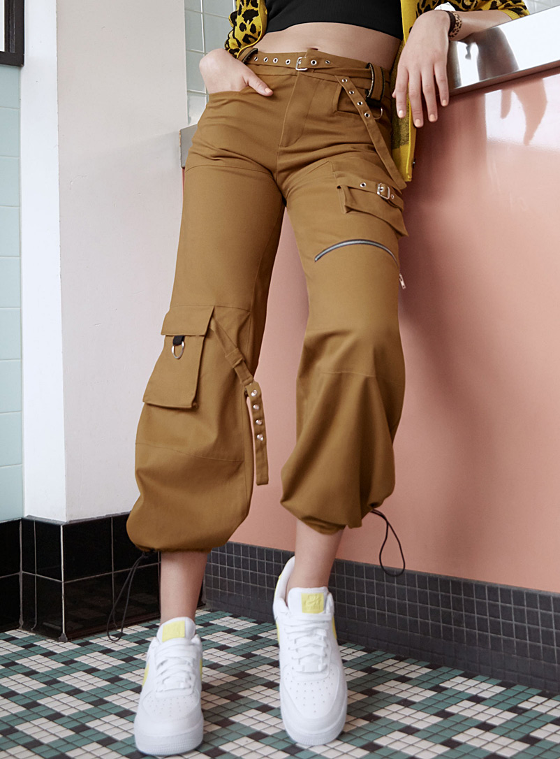 Loose cargo pant - Joggers - Brown