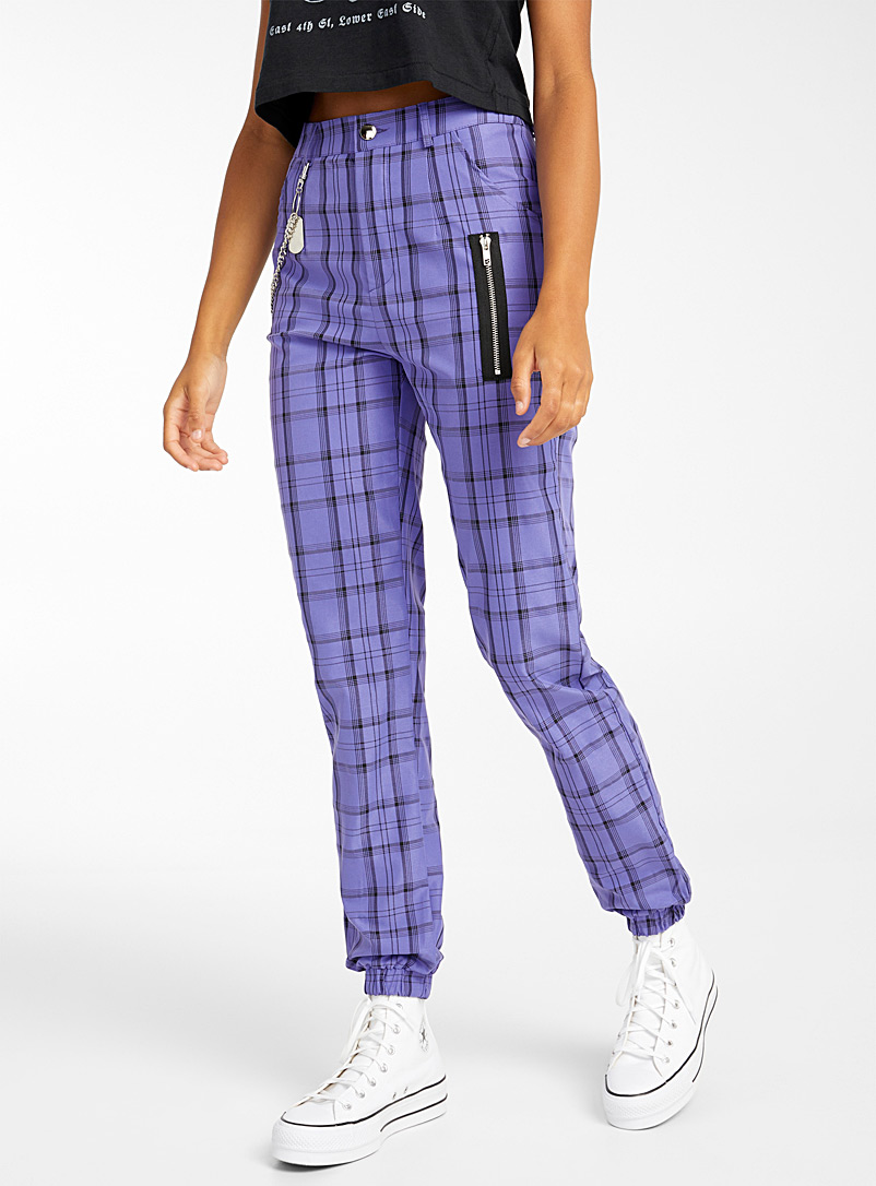 Colourful tartan jogger pant