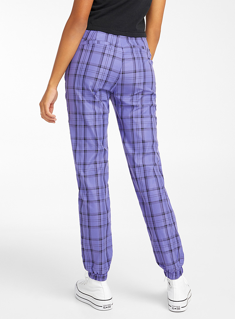 Twik Crimson Colourful tartan jogger pant for women