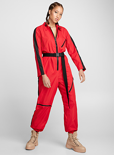 Accent band sporty jumpsuit