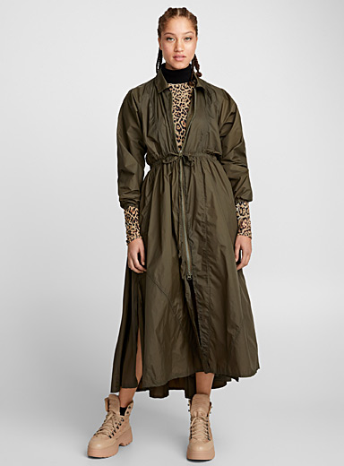 Nylon weave dress parka