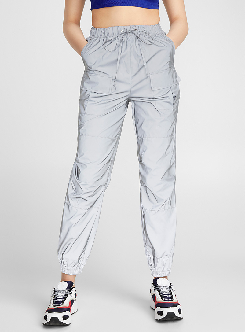 Twik Assorted Reflective cargo joggers for women