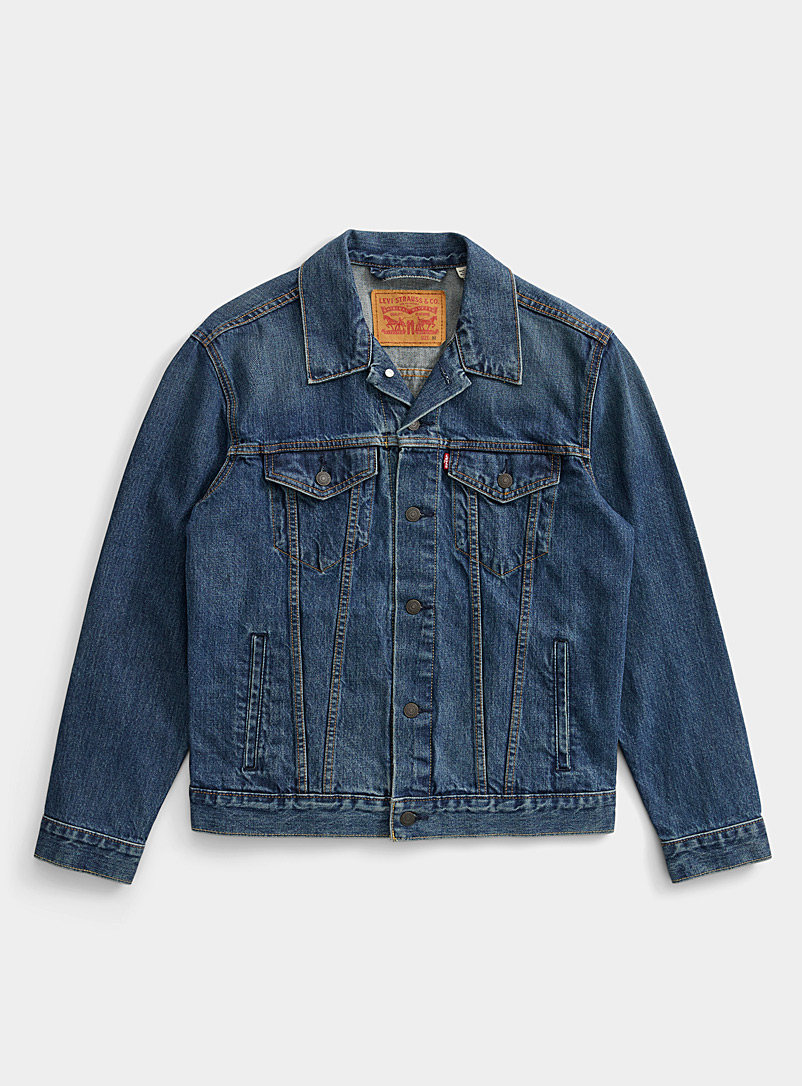 Levi's Slate Blue Authentic jean jacket for men
