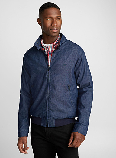 Le blouson harrington denim indigo