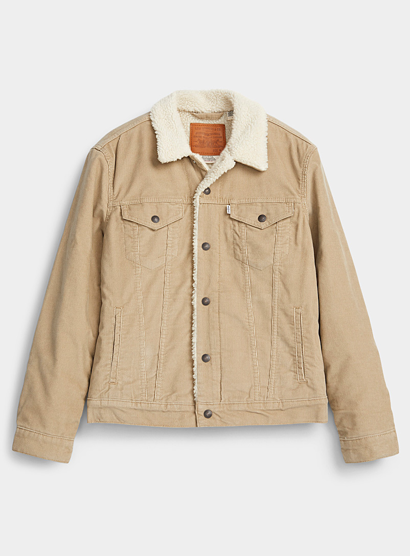 Trucker corduroy jacket