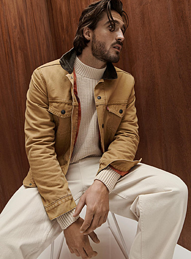 Levi's Fawn Corduroy-collar Trucker jacket for men