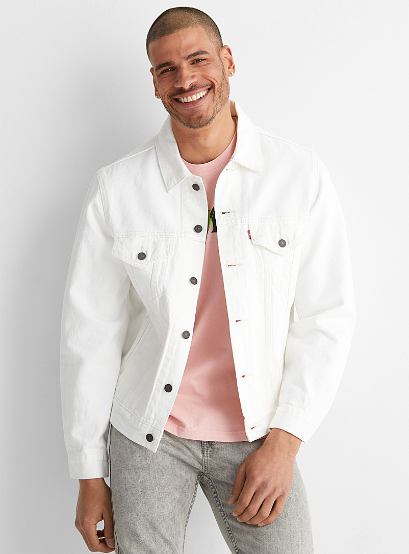 Levi's White Trucker white jean jacket for men