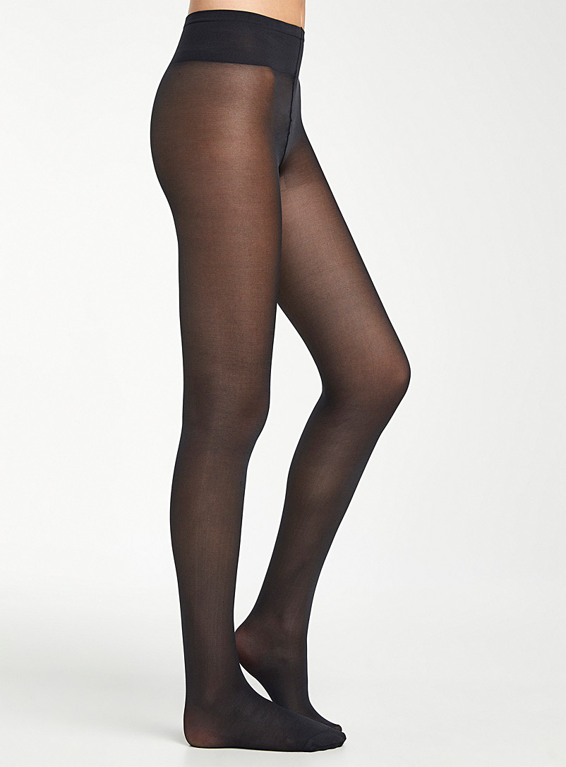 Satiny opaque pantyhose - Tights - Black