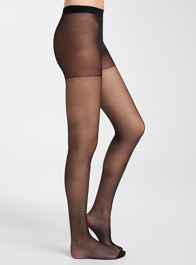 DIM Black Sublim run-resistant pantyhose for women