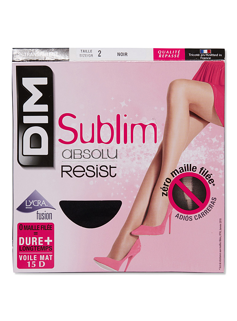 Sublim run-resistant pantyhose - Regular Nylons - Black