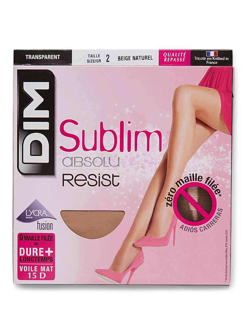 Sublim run-resistant pantyhose - Regular Nylons - Natural