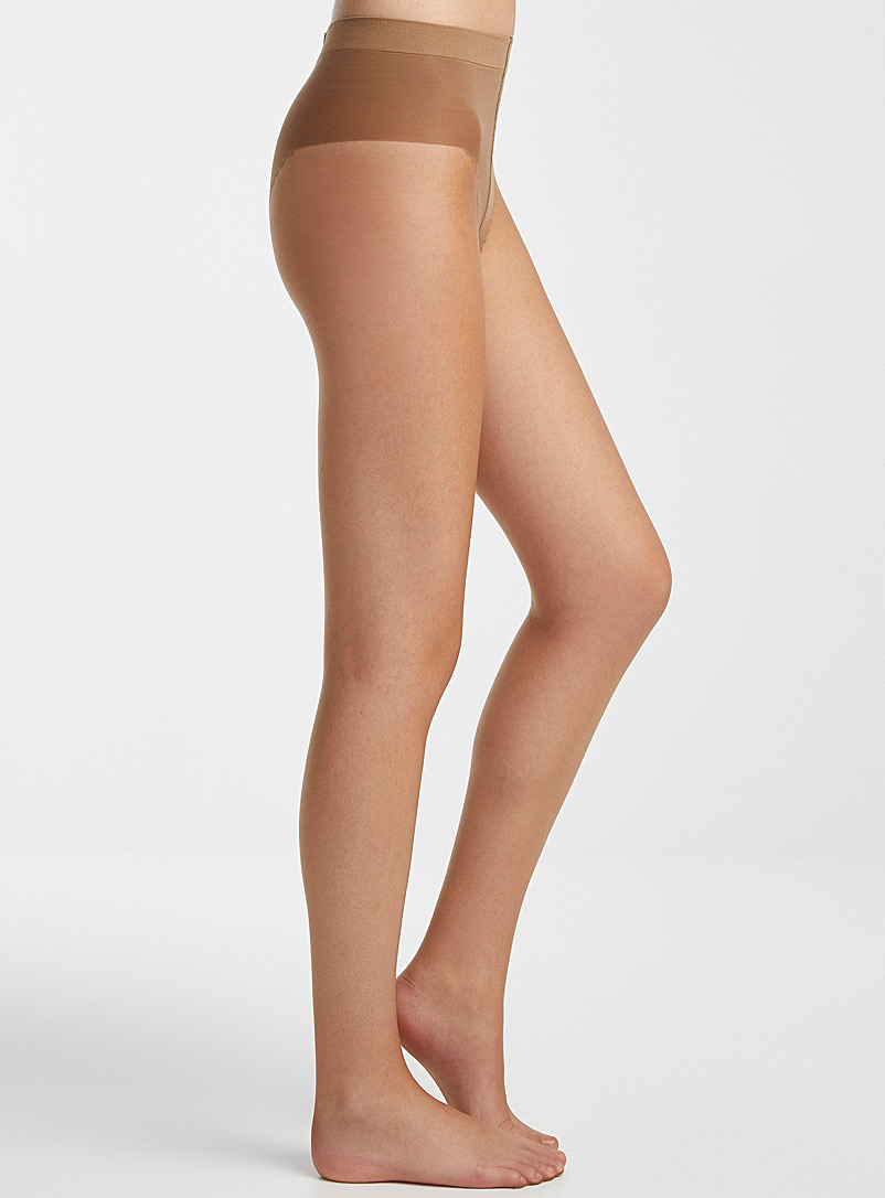 DIM Ivory White Faux-tan pantyhose for women
