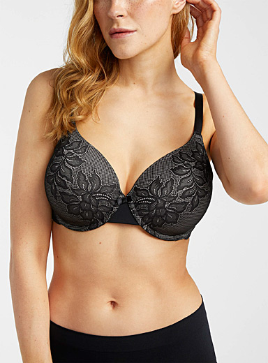 Floral lace full coverage bra