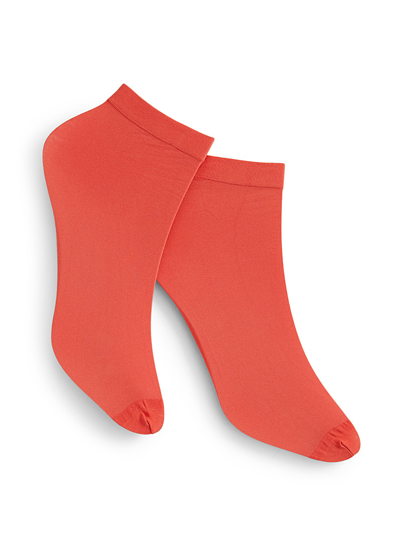 Colourful microfibre ankle socks  Set of 2