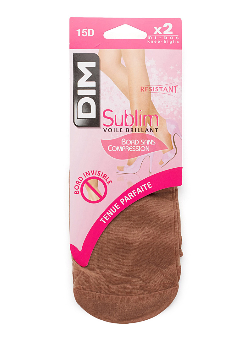 DIM Black Sublim knee-highs  Set of 2 for women