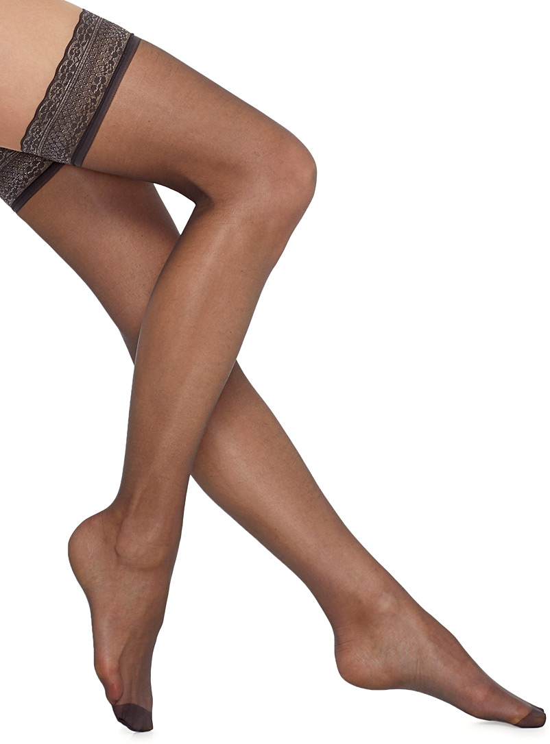Sublim stay-up thigh-highs - Stay-Ups - Dark Grey