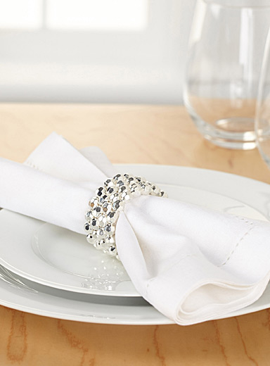 Glam bead napkin ring