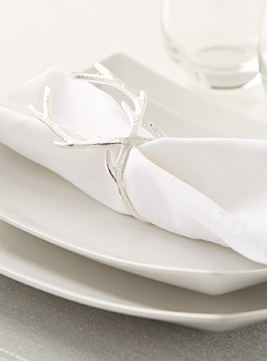 Royal antler napkin ring