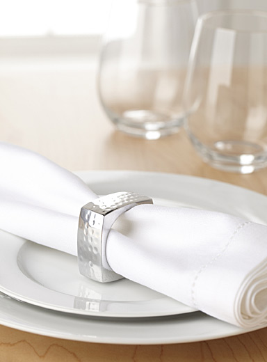 Urban square napkin ring