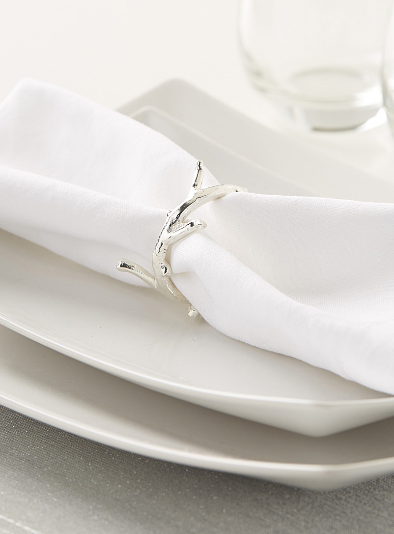 Branch wreath napkin ring - Napkin Rings - Silver