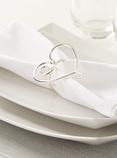 Big heart napkin ring