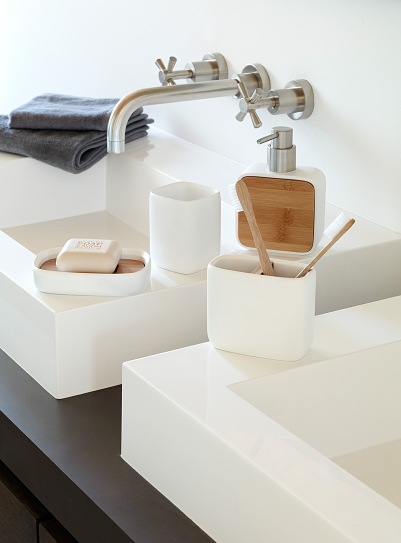 Simons Maison White Bamboo-resin accessories